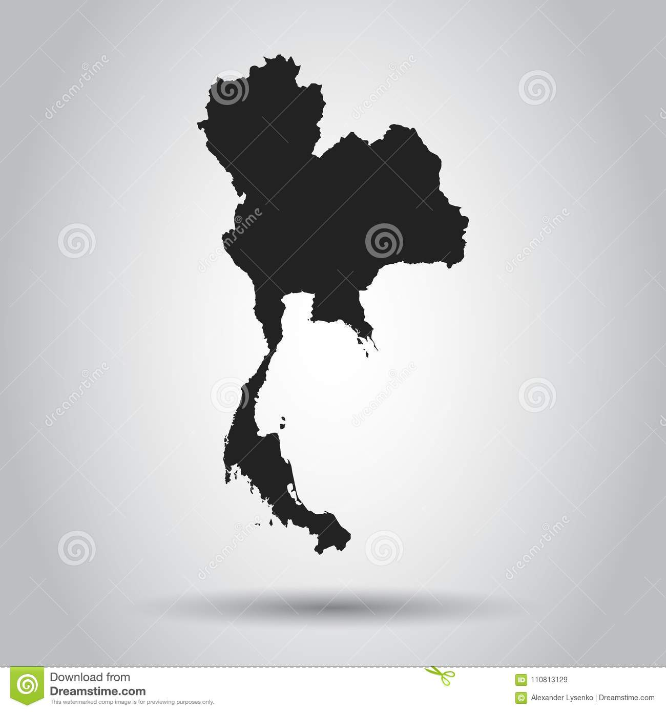 Thailand vector map black icon on white background stock vector download thailand vector map black icon on white background stock vector illustration of gumiabroncs Image collections