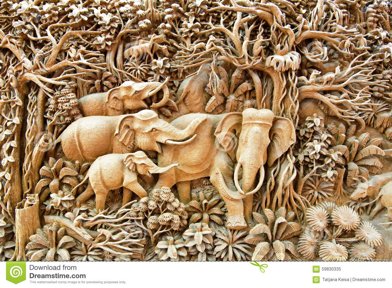 The art of carving in Thailand