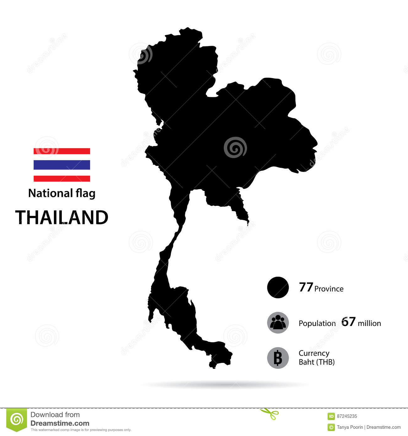 Thailand on the world map isolated on white background stock vector thailand on the world map isolated on white background stock vector illustration of asia contour 87245235 gumiabroncs Images