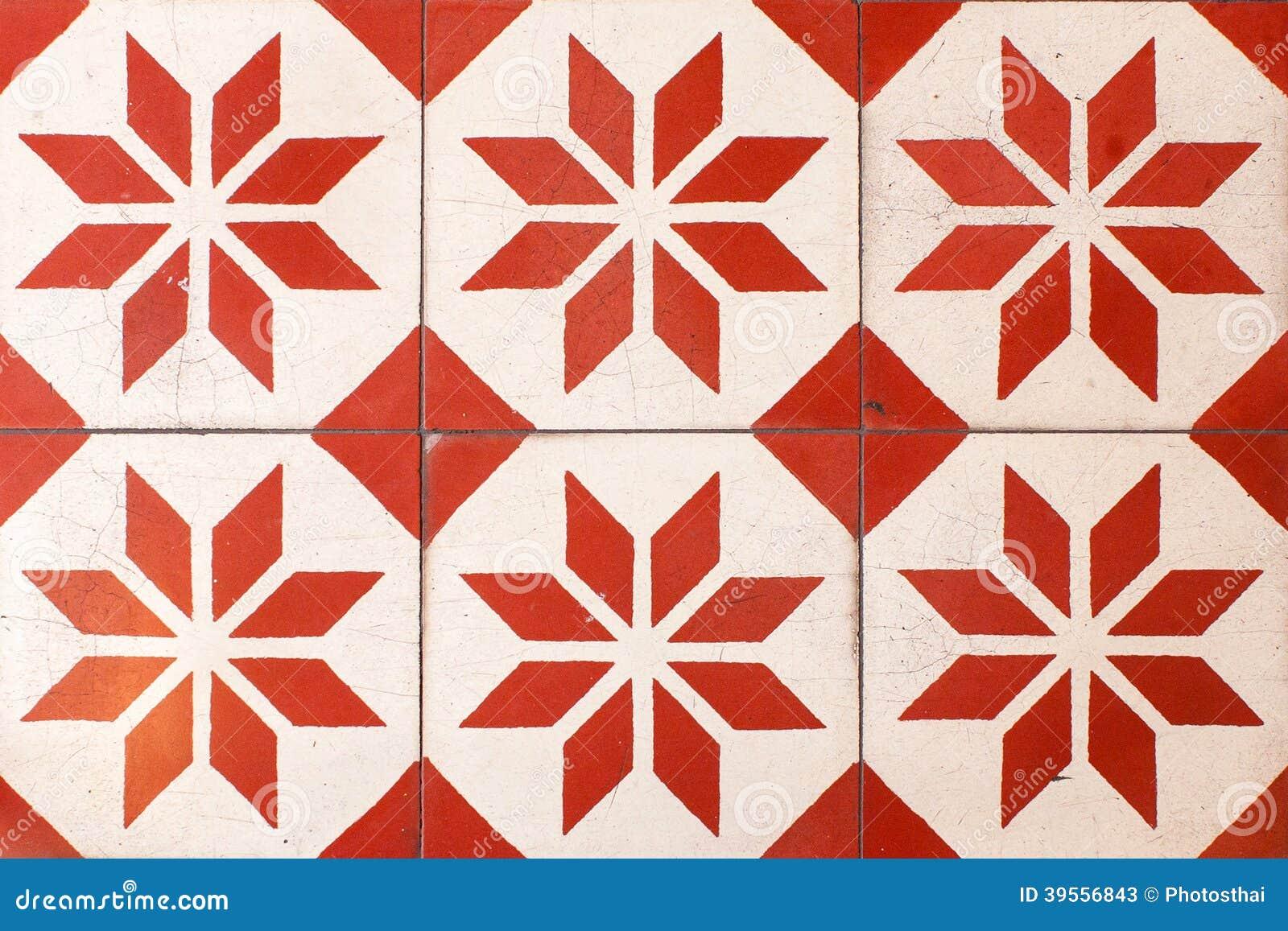 Thailndische Retro Bodenfliesen Stockfoto Bild 39556843