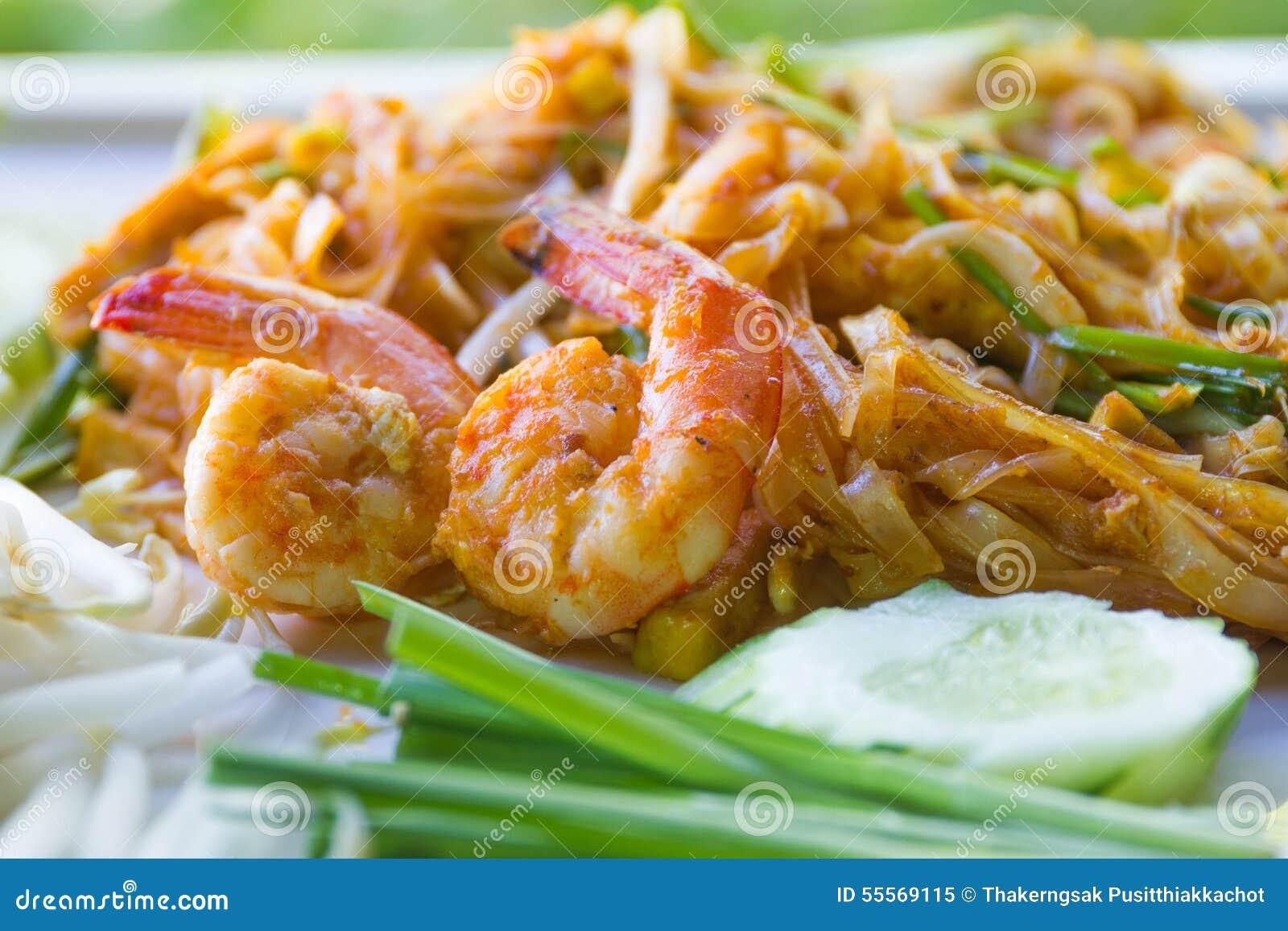 Thais Fried Noodles, Thais voedselstootkussen Thai