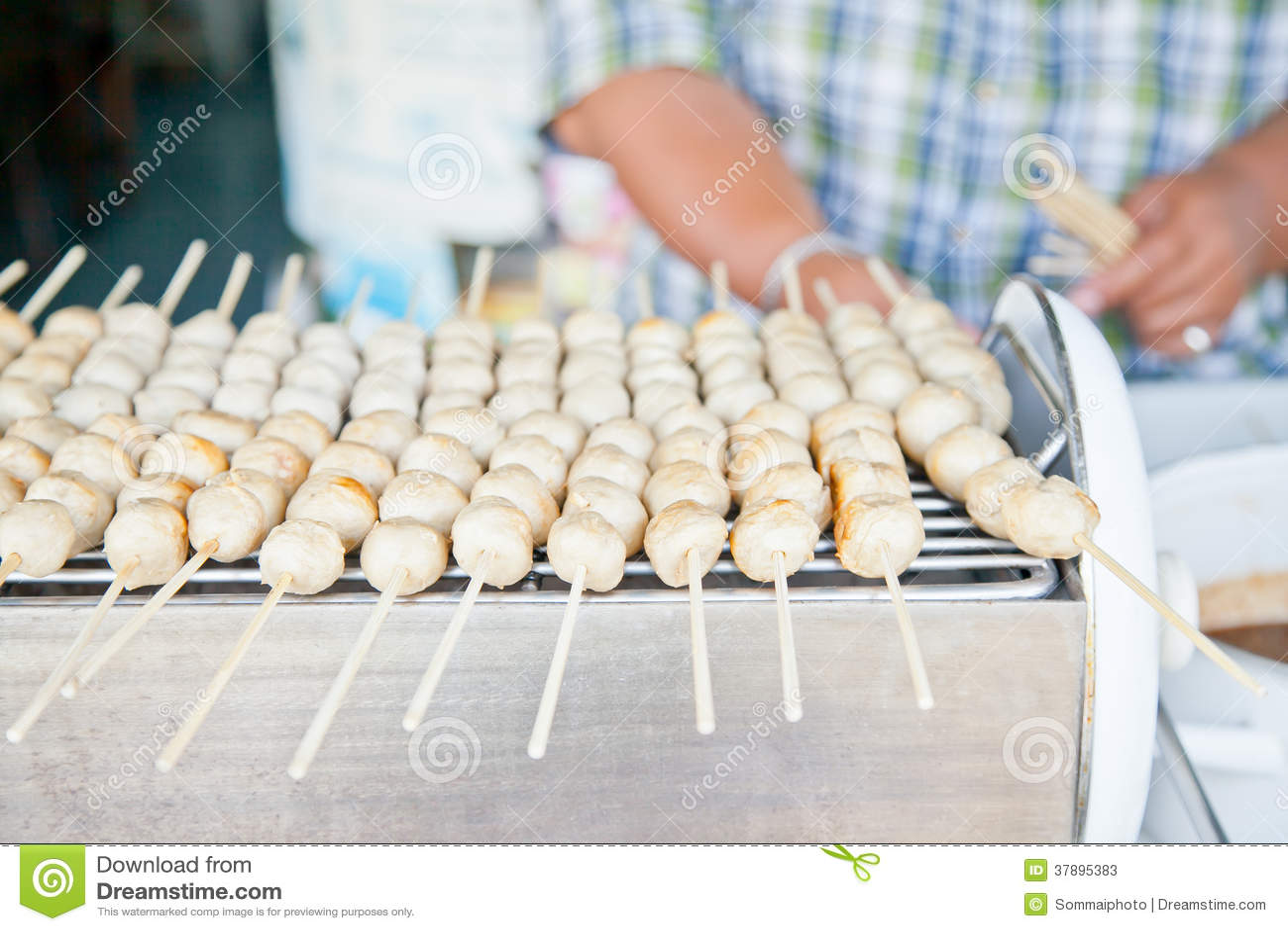 Thais stijl geroosterd vleesballetje