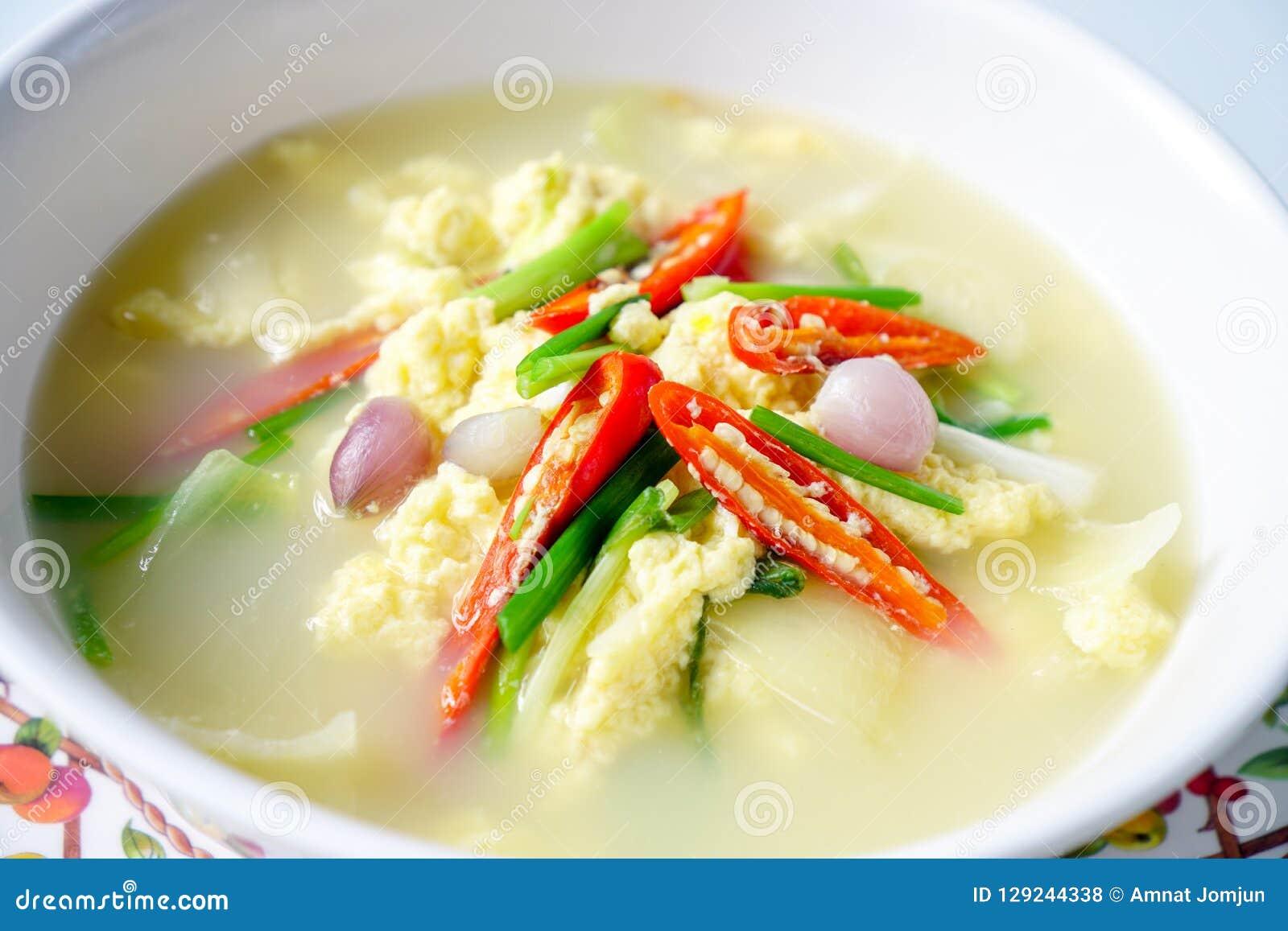 Thais Voedsel, Gestoomd ei, Eisoep