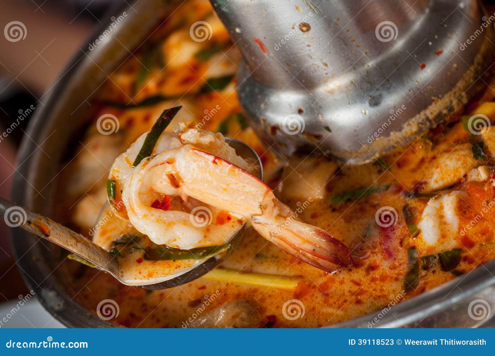 Thais Voedsel Tom Yum Goong