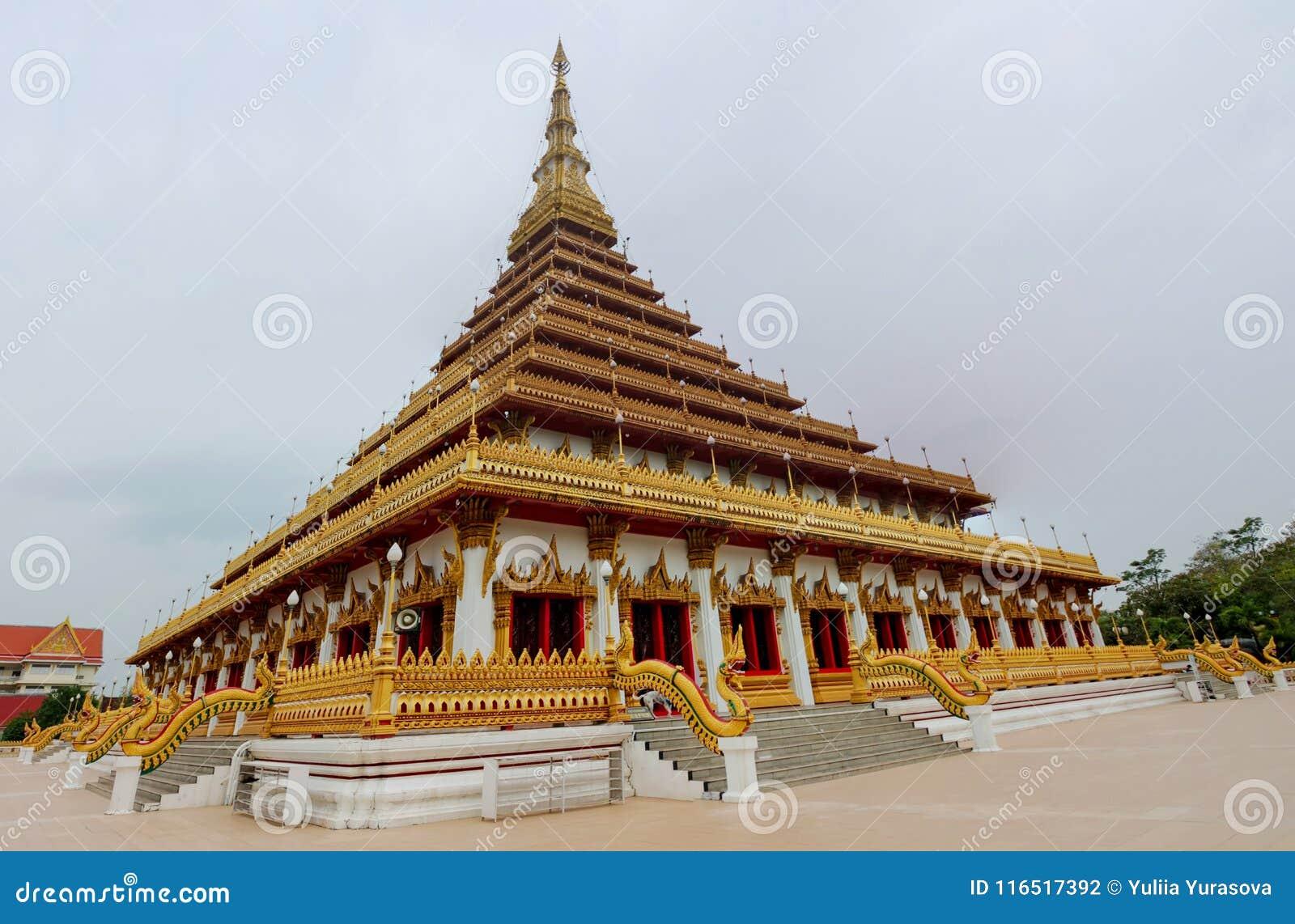 Thaise boeddhistische tempel wat in Khon Kaen, Thailand