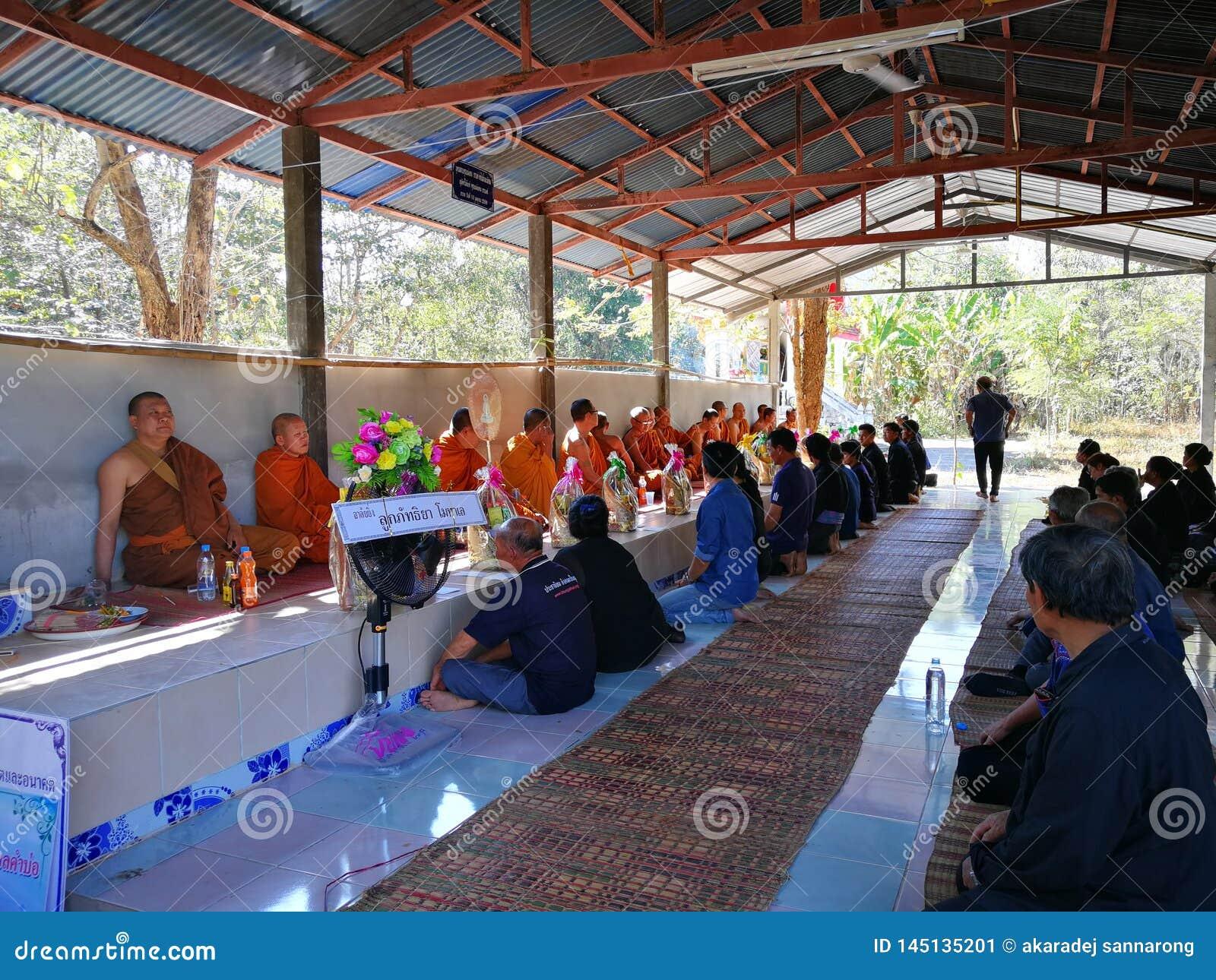 Thaise landelijke traditioneel van Begrafenis