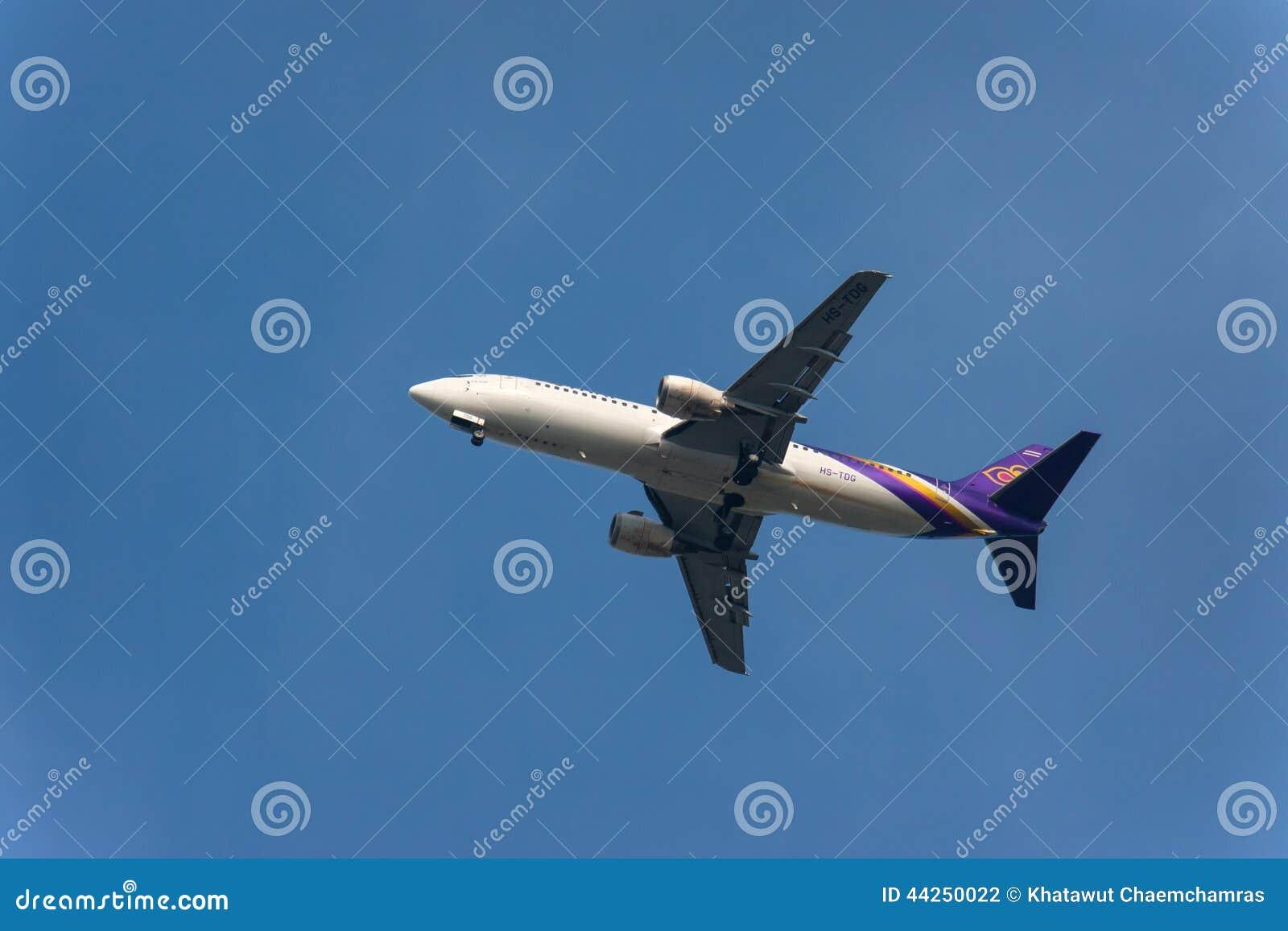Thaise luchtroutesvliegtuigen