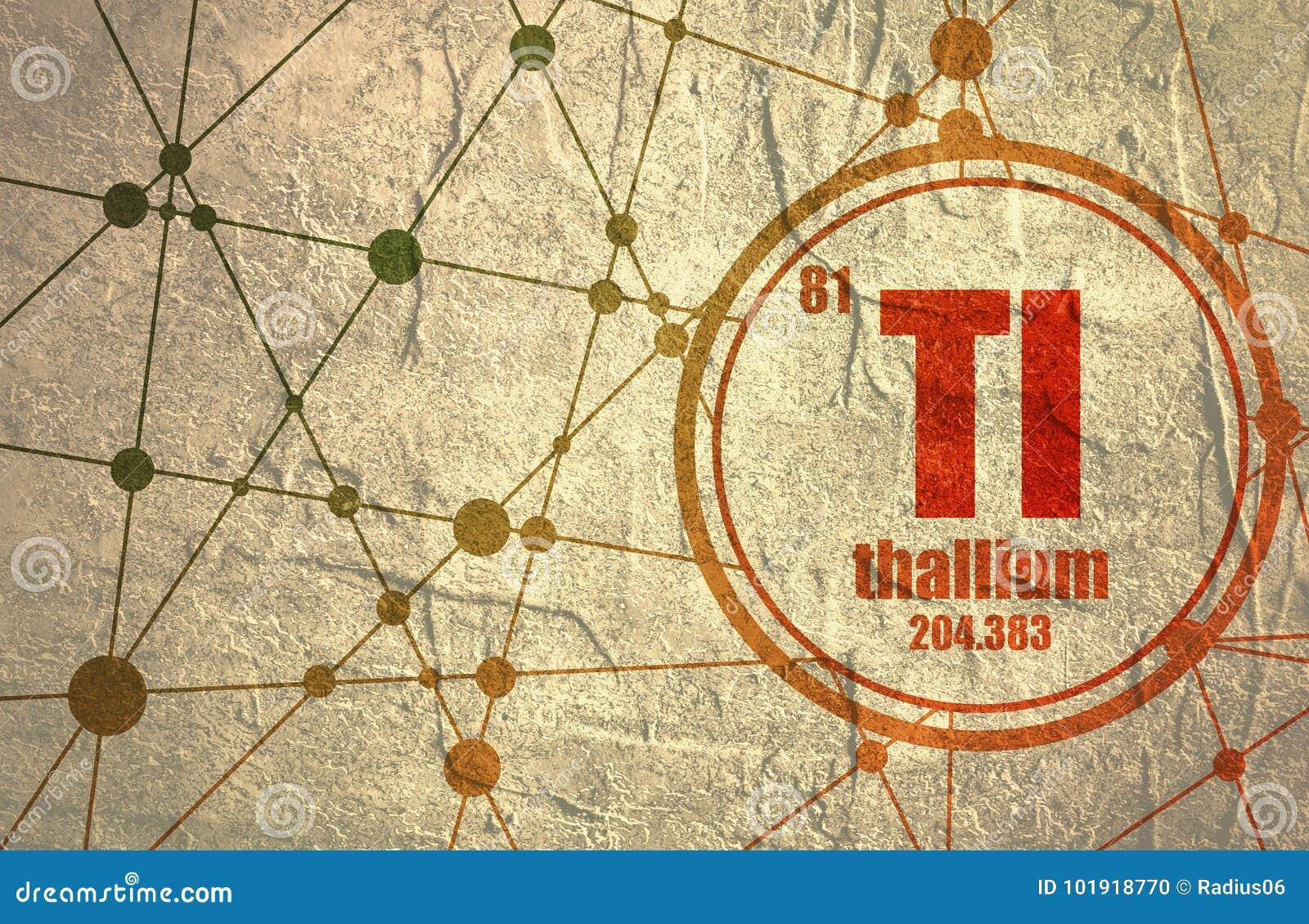 Thallium Chemical Element Stock Illustration Illustration Of