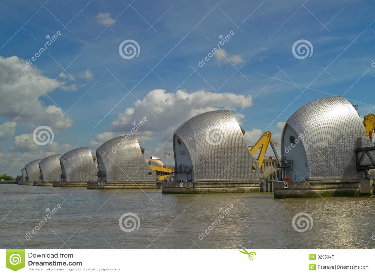 Thames Barrier Royalty Free Stock Photography - Image: 8295047