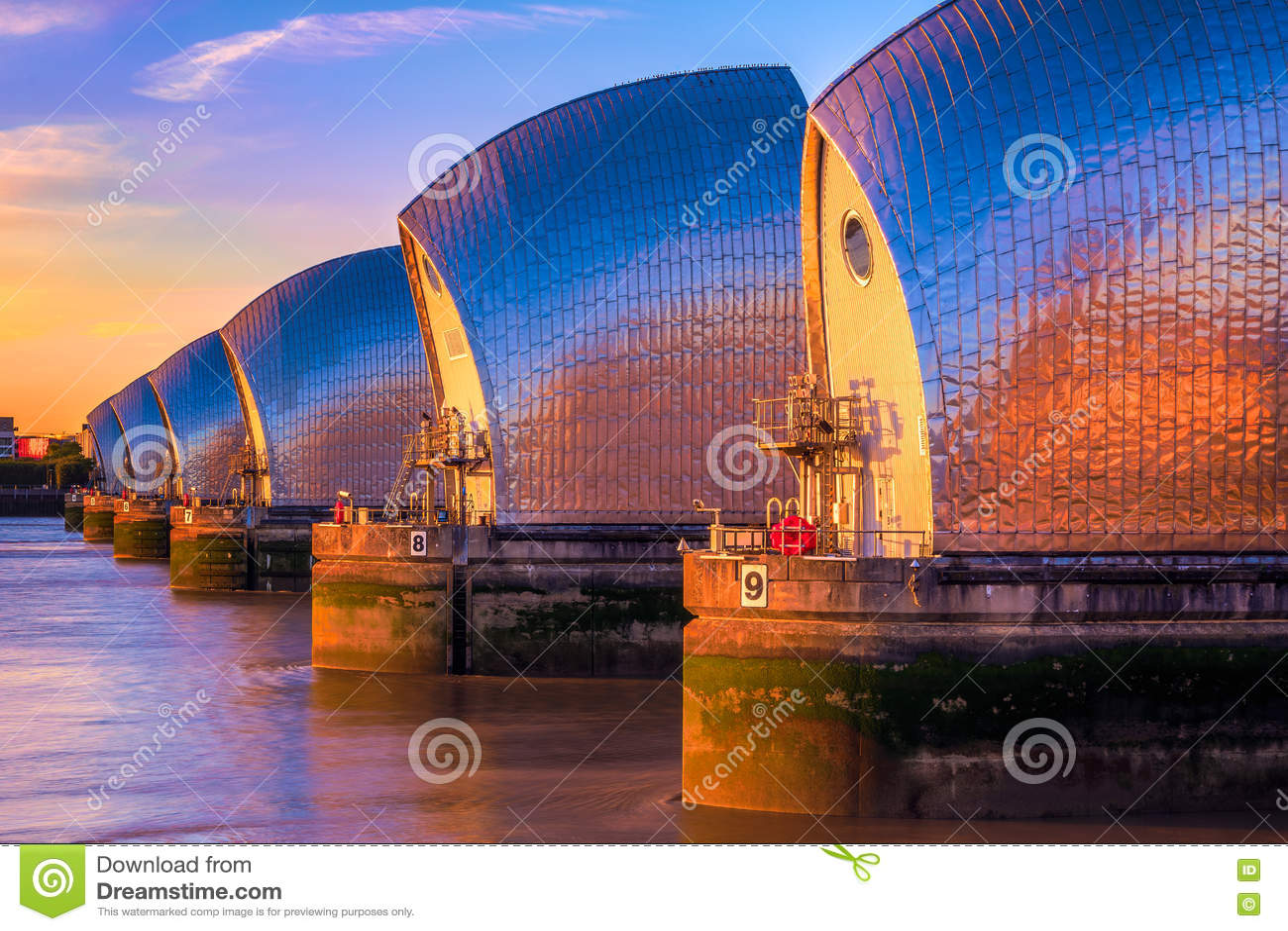 Thames Barrier in London