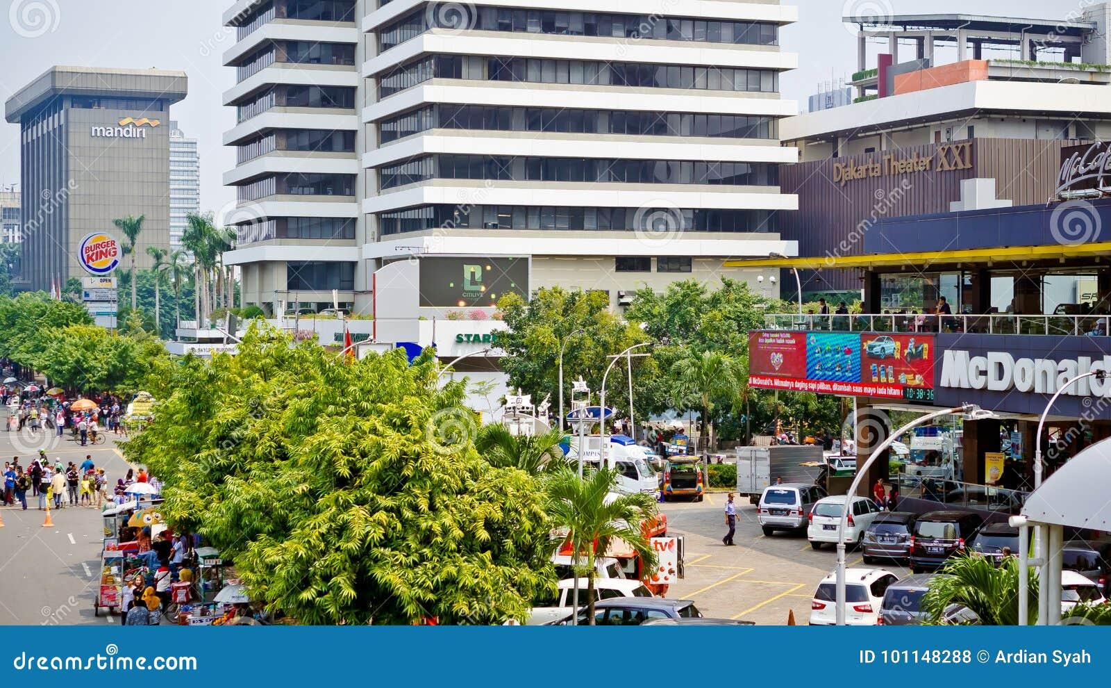 Thamrin街道恐怖在雅加达