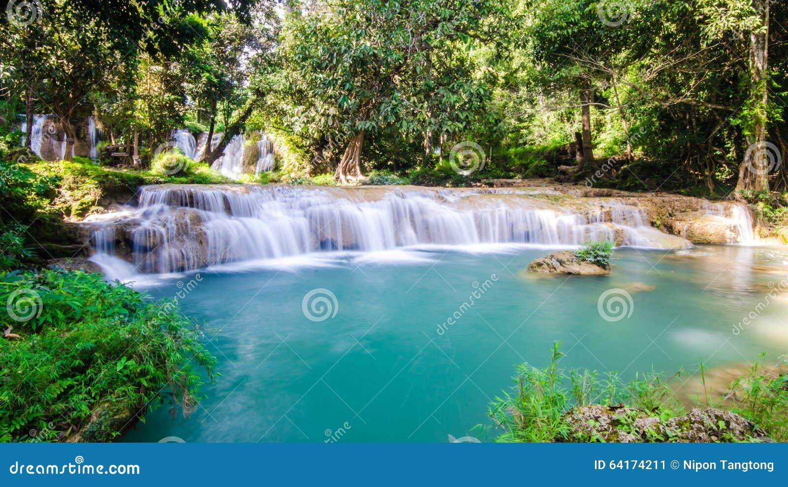 Than Sawan Waterfall, Paradise Waterfall In Tropical Rain ...