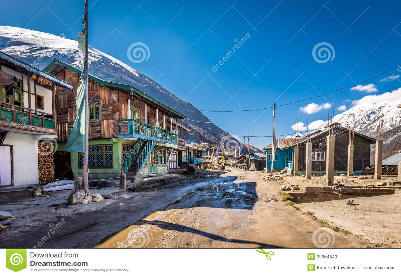 Lachen India  city photos : Thangu Village,Lachen,North Sikkim,India Editorial Stock Photo Image ...