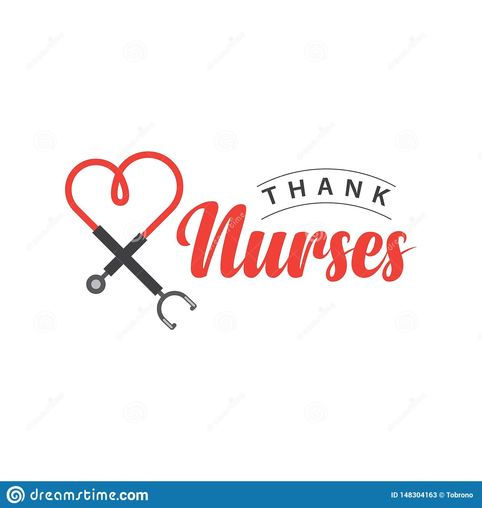 Thank Nurses Vector Template Design Illustration