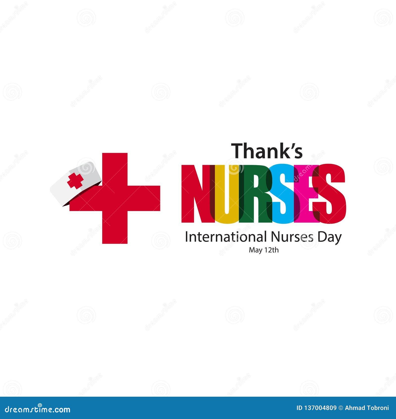 Thanks Nurses Vector Template Design Illustration