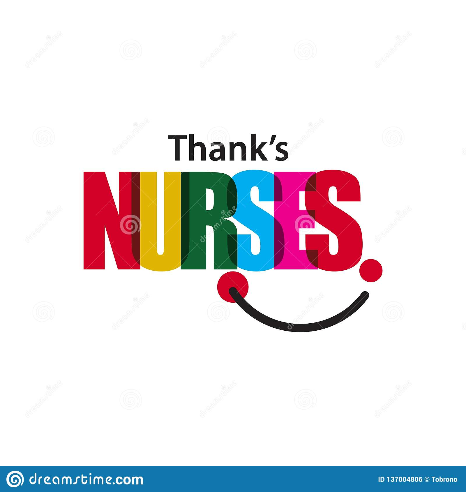 Thanks Nurses Vector Template Design Illustration