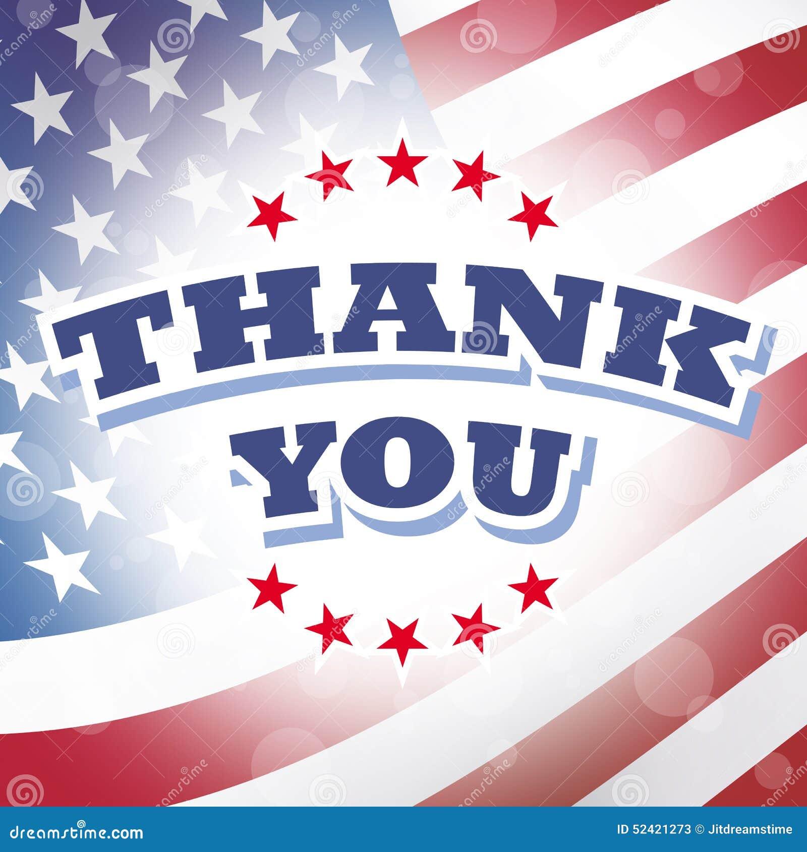 Thank You America Stock Vector Illustration Of Illustration