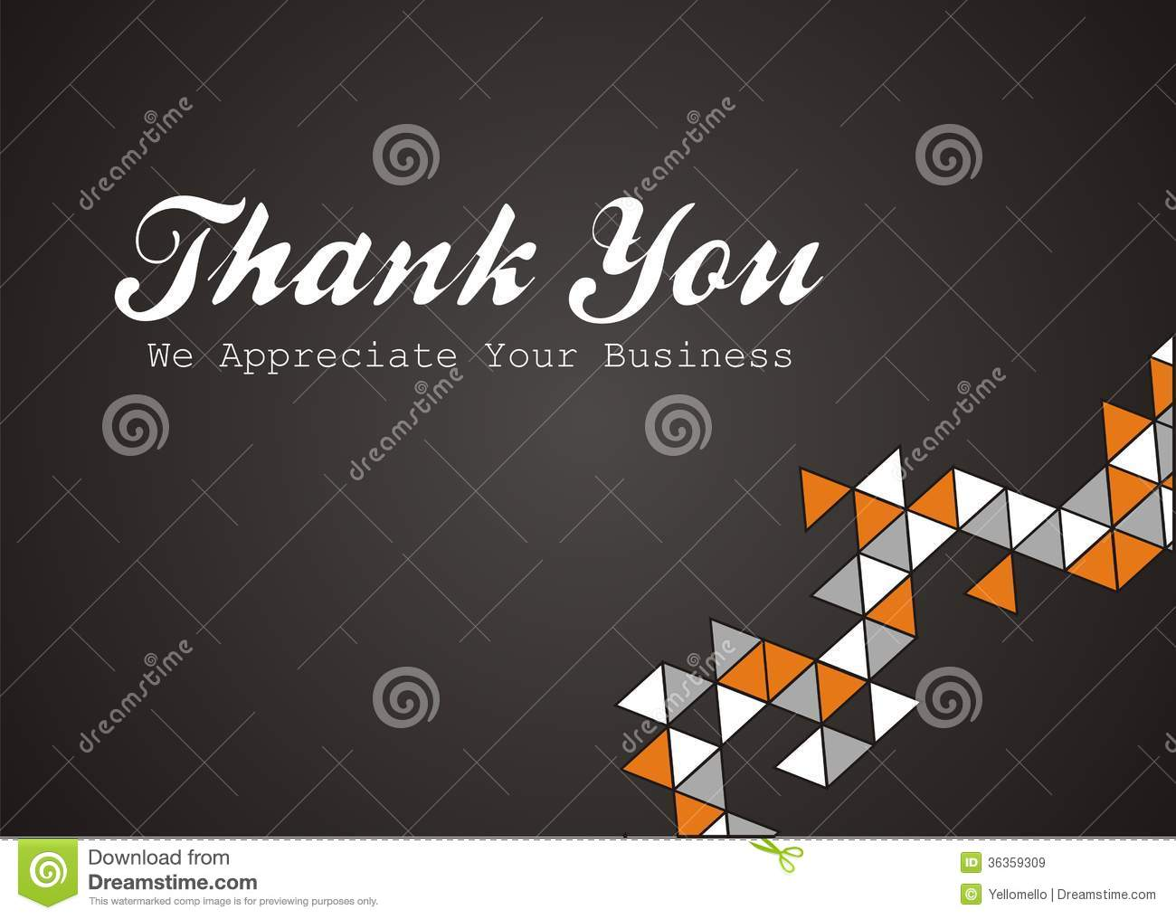 We Appreciate Your Business Thank you - we appreciate your