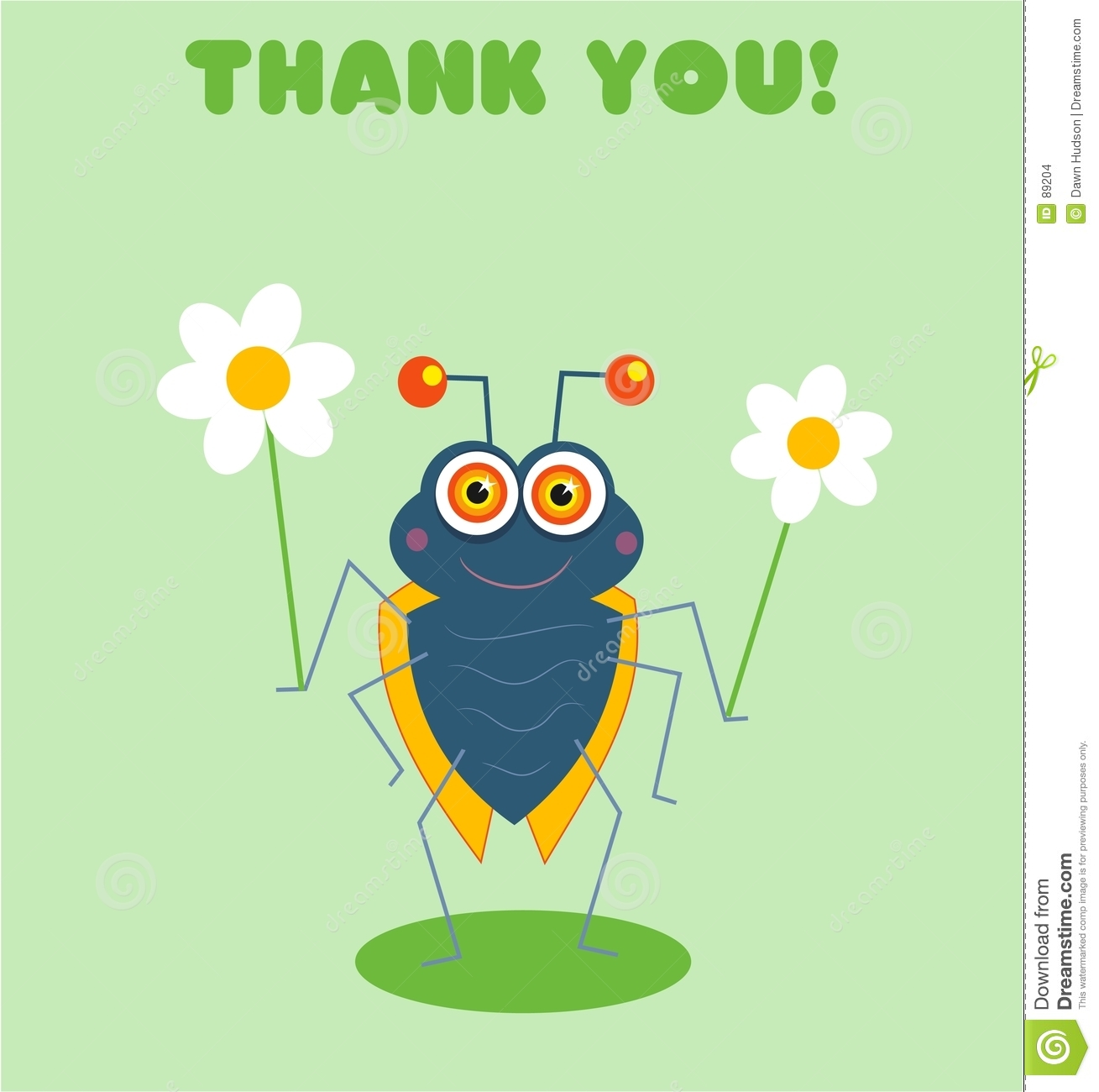 Thank you from bugsy - checkout the rest of the Bugsy geeting card ...