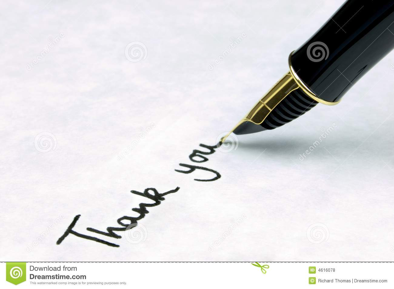 Thank You On A Business Letter Stock Photo Image Of Expensive