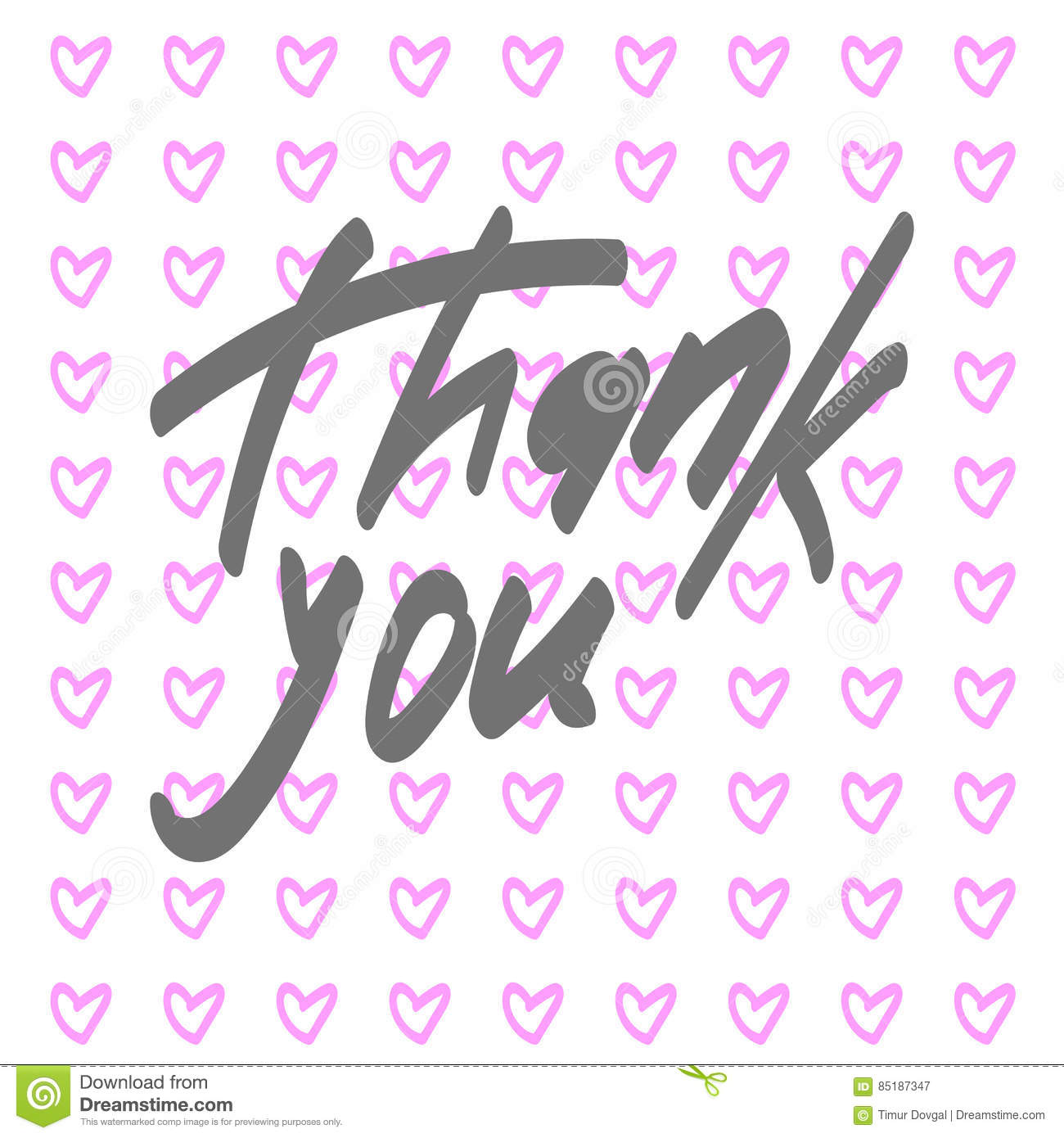Thank you calligraphy brush painted vector stock