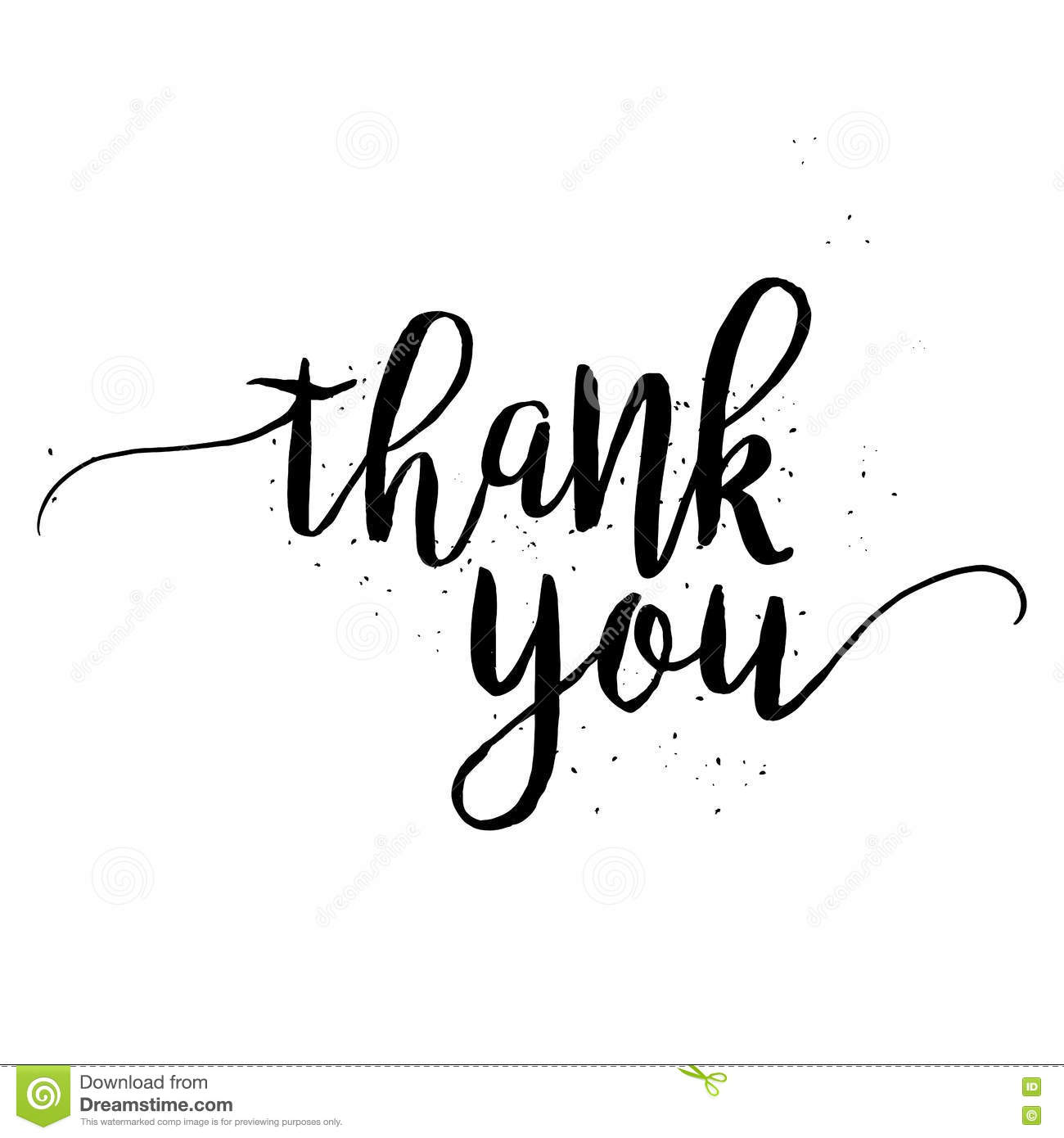 Thank You Calligraphy Sign Stock Vector Image 69003693