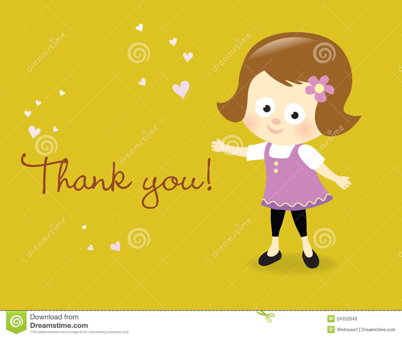 Thank You Card Royalty Free Stock Images - Image: 24152049