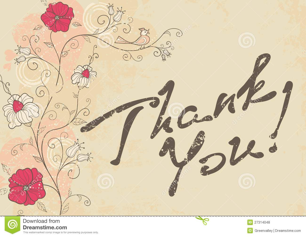 royaltyfree stock photo download thank you card