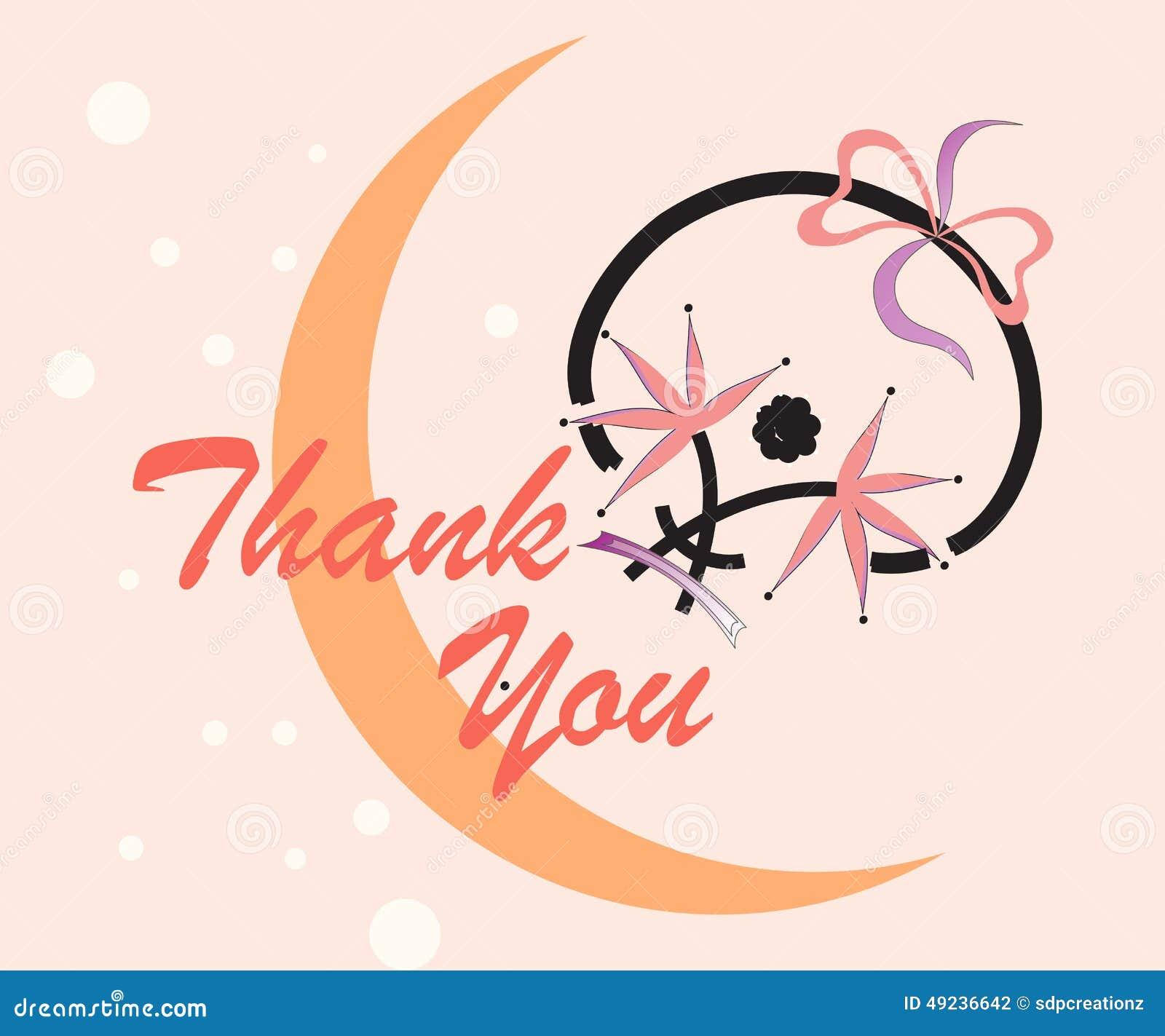 Thank You Card Stock Illustration Illustration Of Retro 49236642
