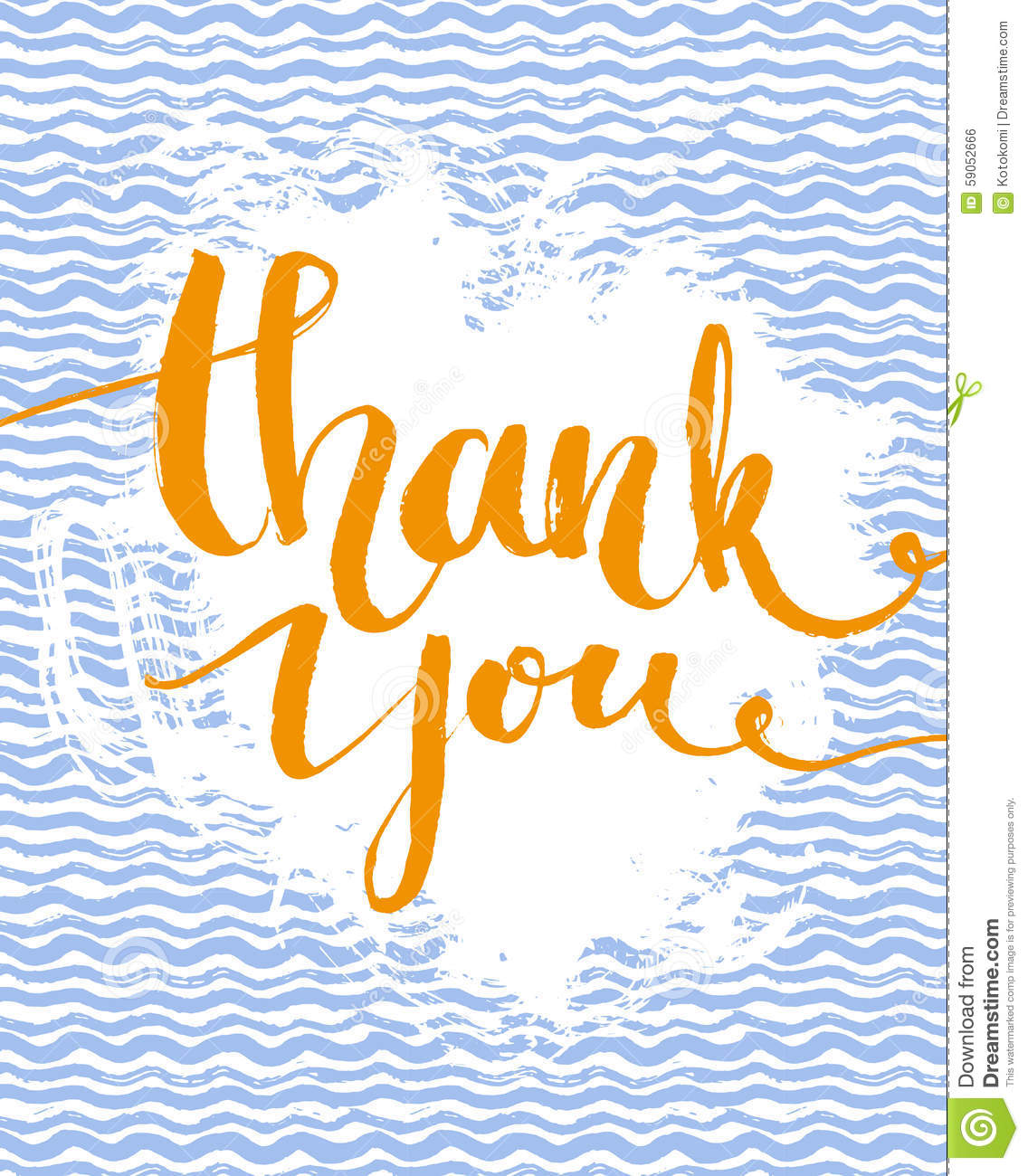 Thank You Card Calligraphy Phrase At Hand Drawn Stock