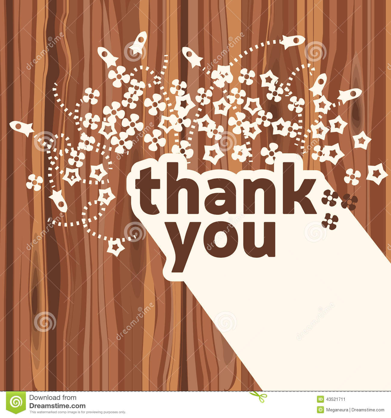 Thank you card design template stock vector illustration of thank you card design template spiritdancerdesigns Images