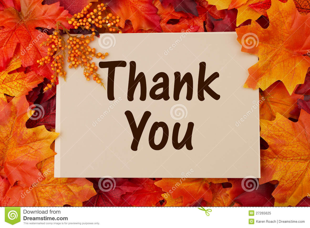 thank you card with fall leaves stock image image 27265625 Happy Halloween Clip Art Halloween Pumpkin Clip Art