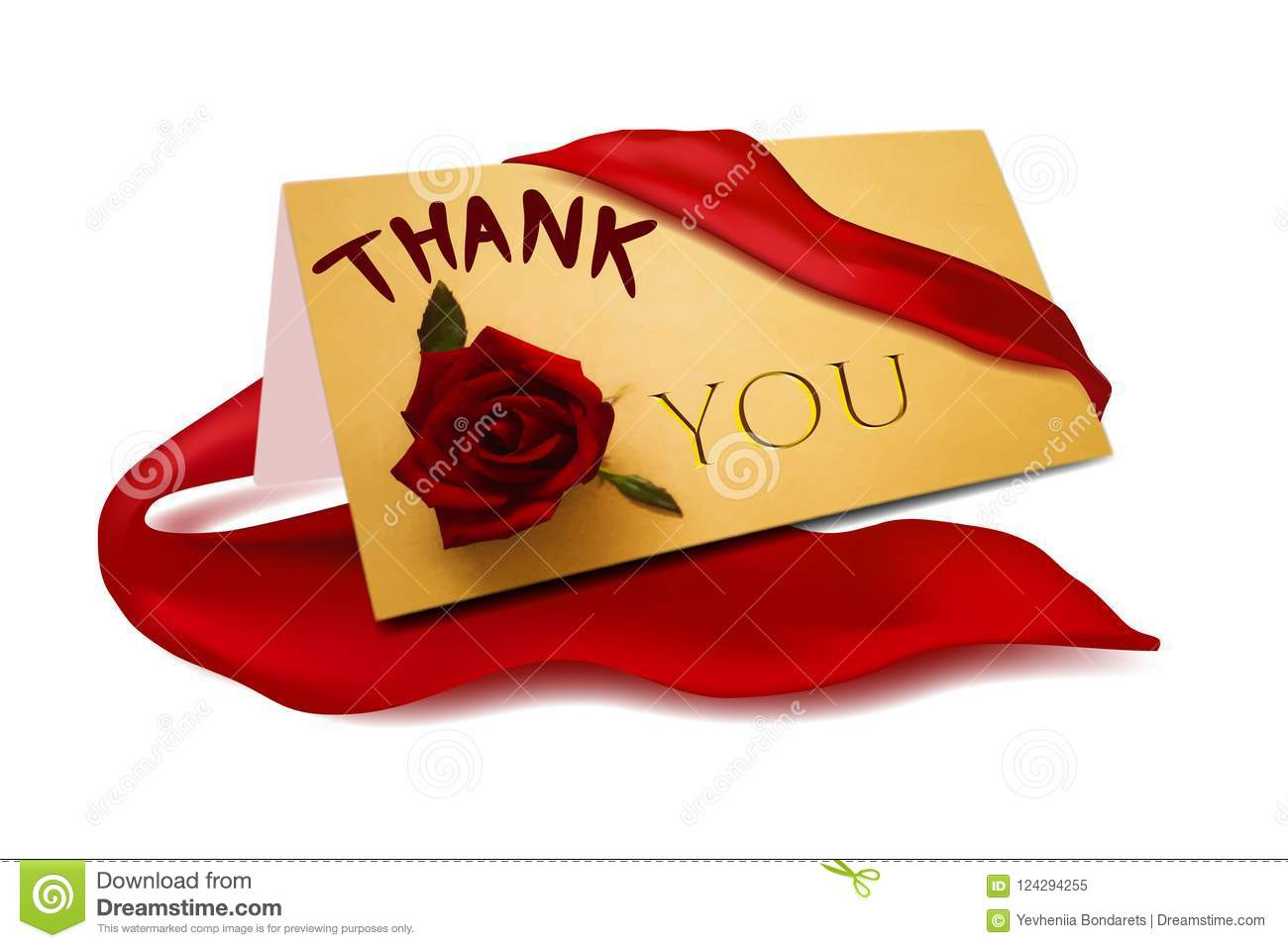 Thank You Card Illustration Stock Illustration Illustration Of