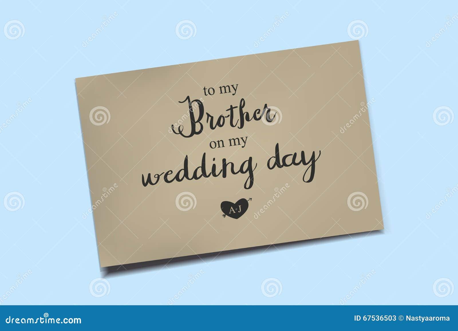 thank you card on my wedding day stock illustration illustration