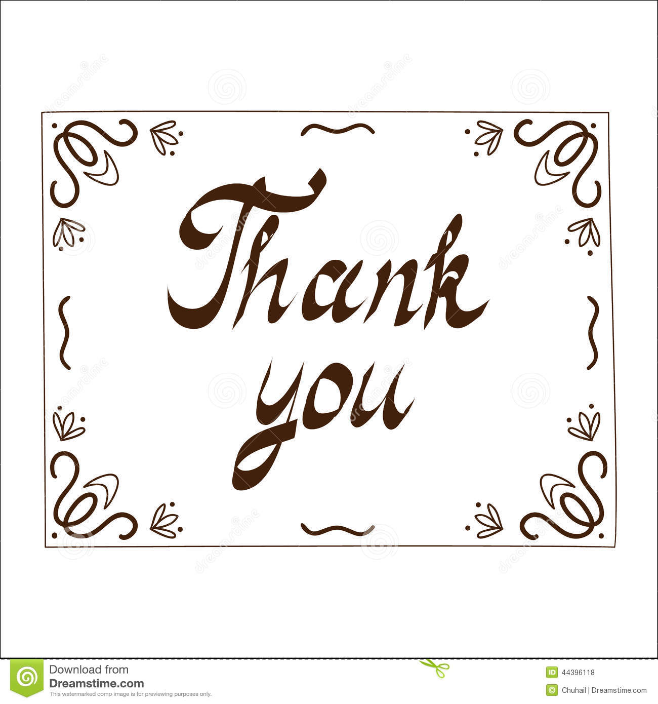 Thank You Card Template Stock Vector - Image: 44396118