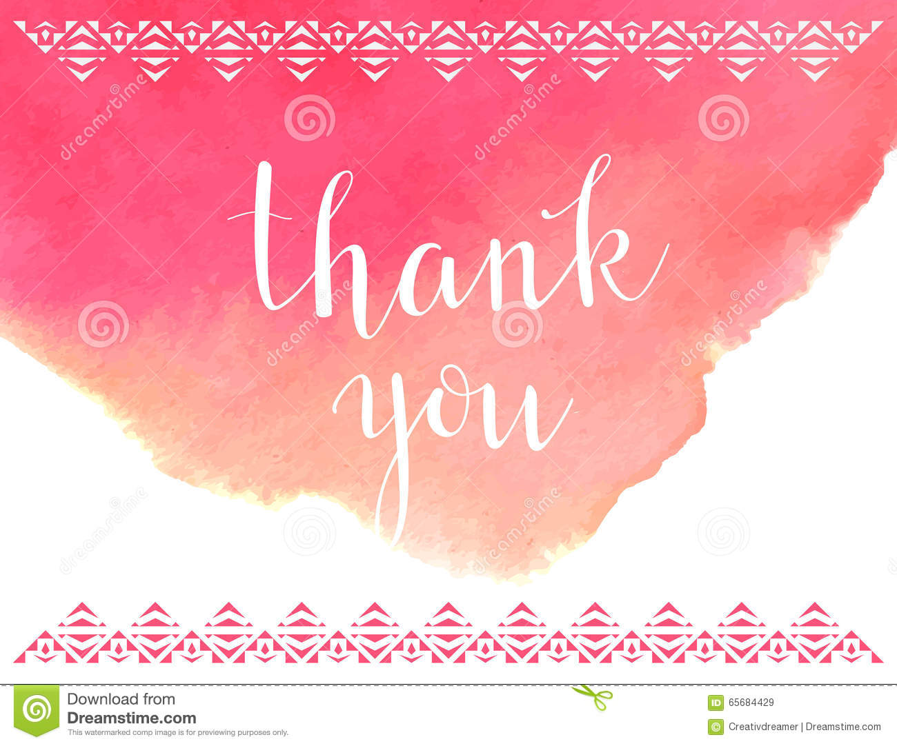 Thank You Note Card Sample