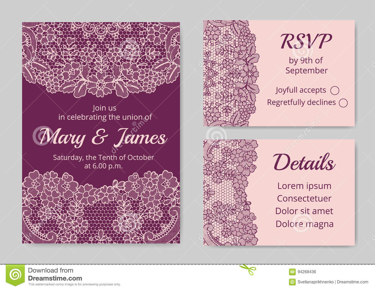 thank you card stock vector illustration of invitation 94268436