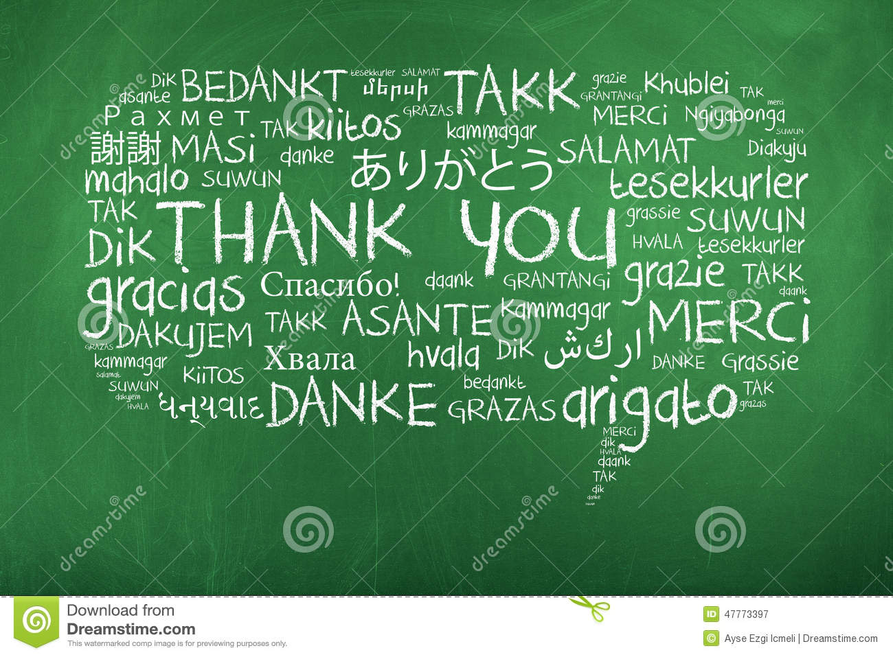Thank you in different languages stock image image 47773397 for Green in different languages