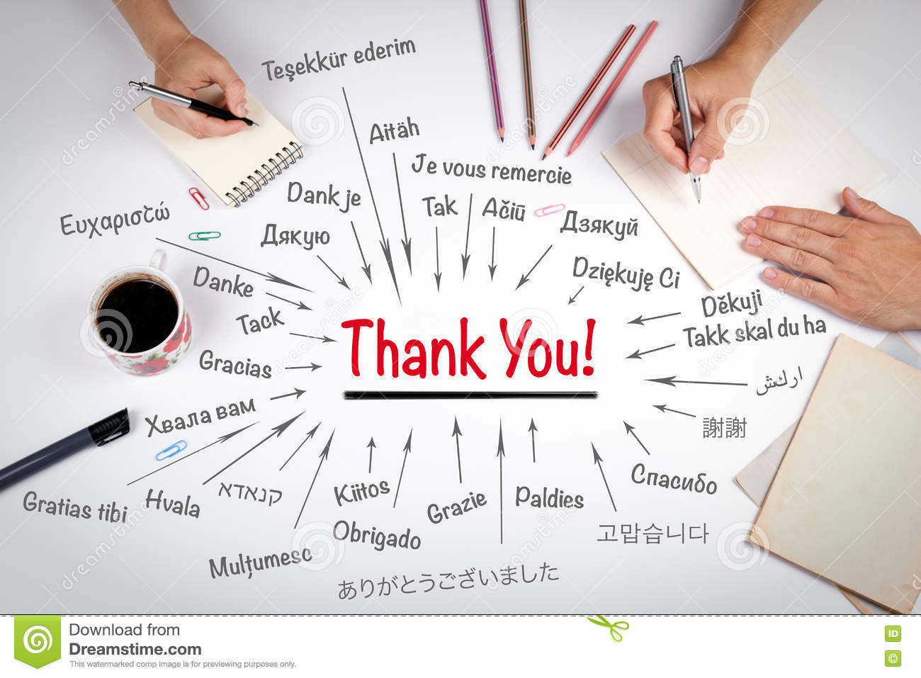 thank you note on office computer image photo bigstock