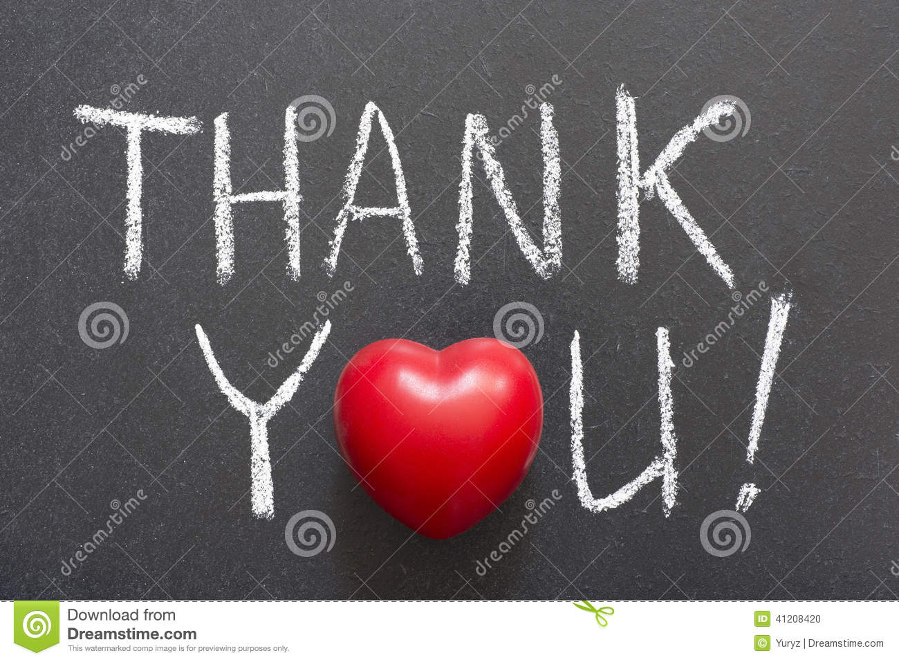Download Thank you stock photo. Image of thank, chalkboard, love - 41208420