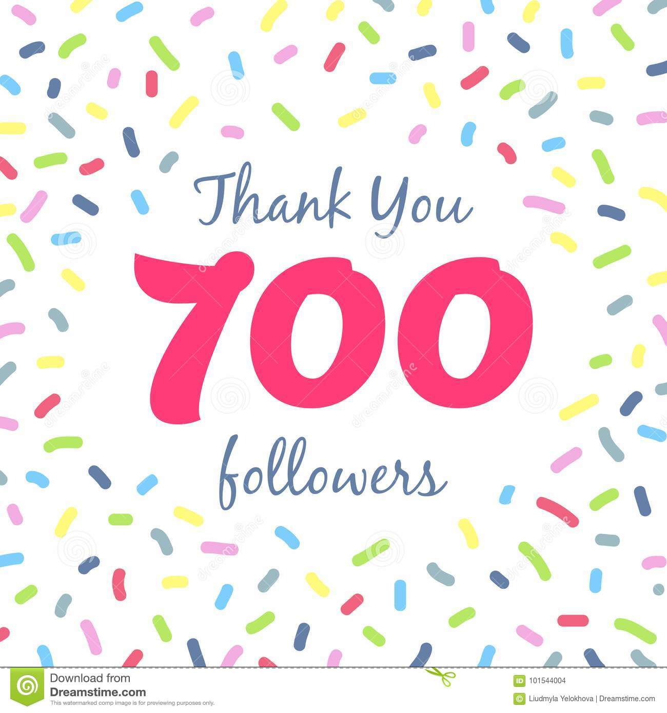31c27cd2e92 Thank you 700 followers network post. Vector digital illustration. Celebration  of seven hundreds subscribers