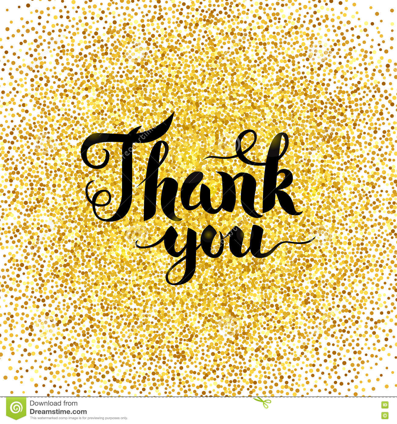 Thank you gold greeting card stock vector illustration of poster thank you gold greeting card kristyandbryce Choice Image