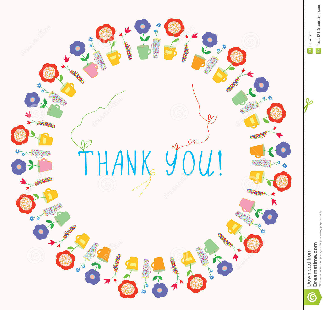 Thank you greeting card stock vector. Illustration of baby