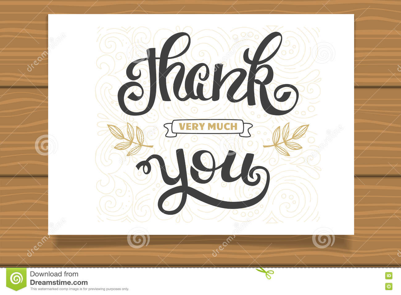 Thank you. Hand lettering sign for a card. Template thanksgiving cards ...
