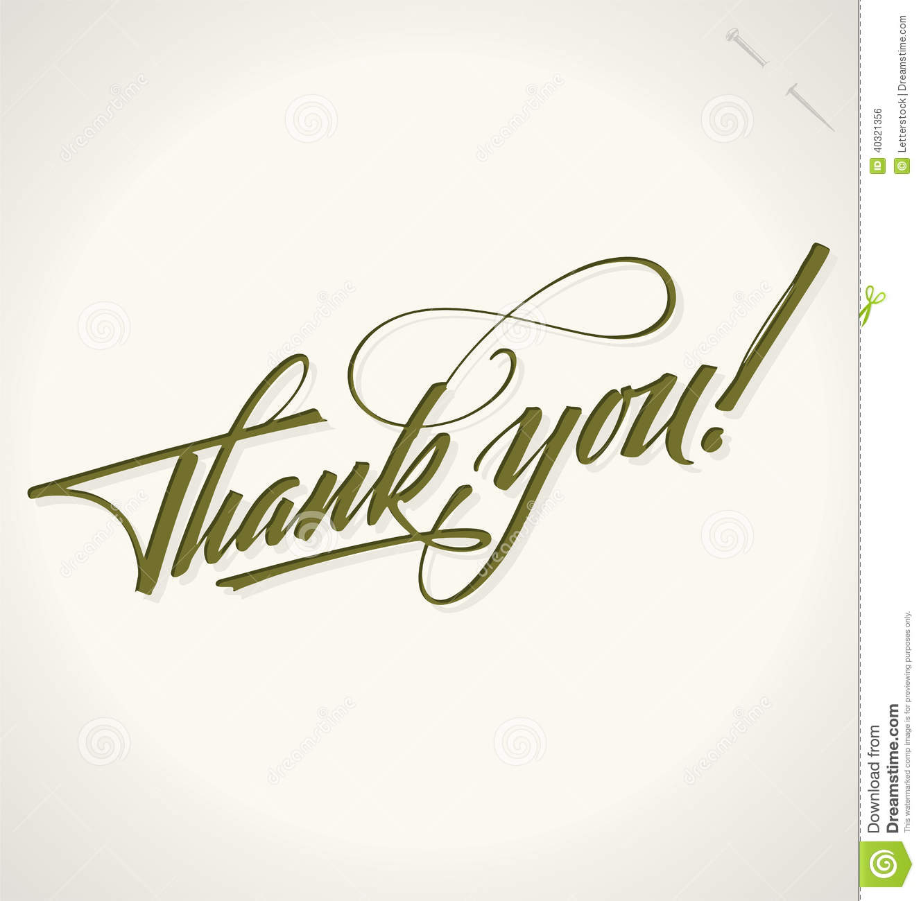 thank you hand lettering vector stock vector image