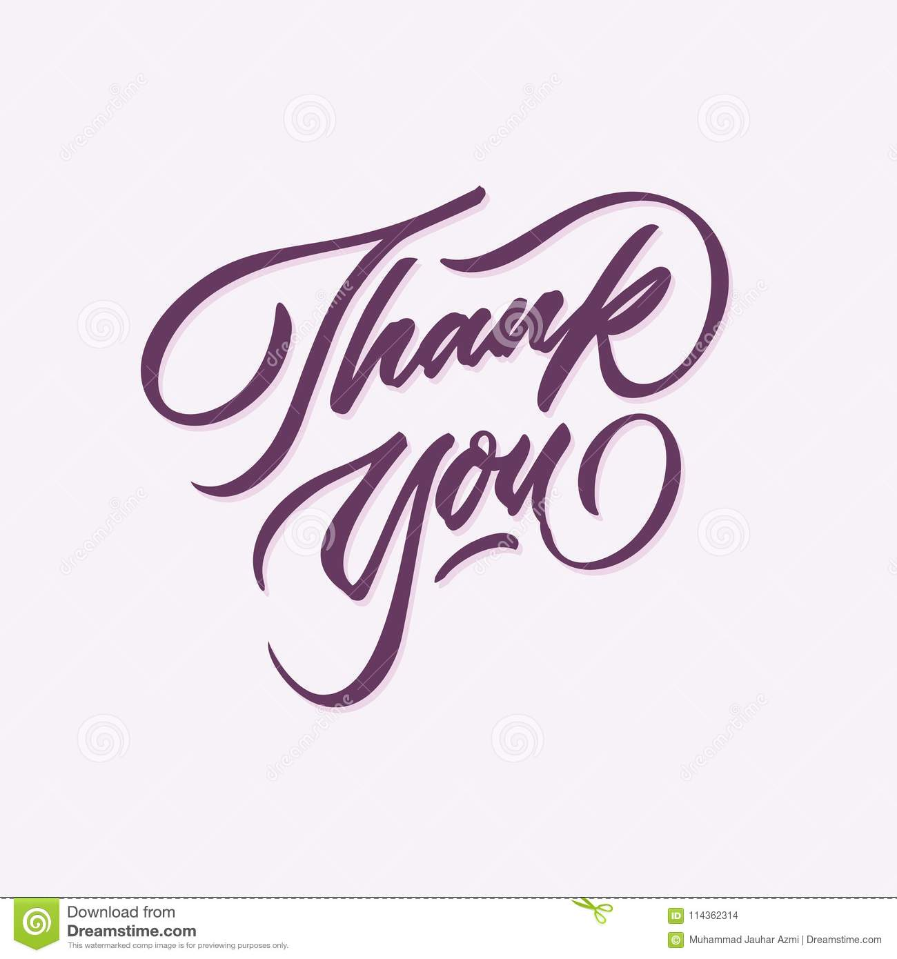 thank you hand written lettering calligraphy typography card poster