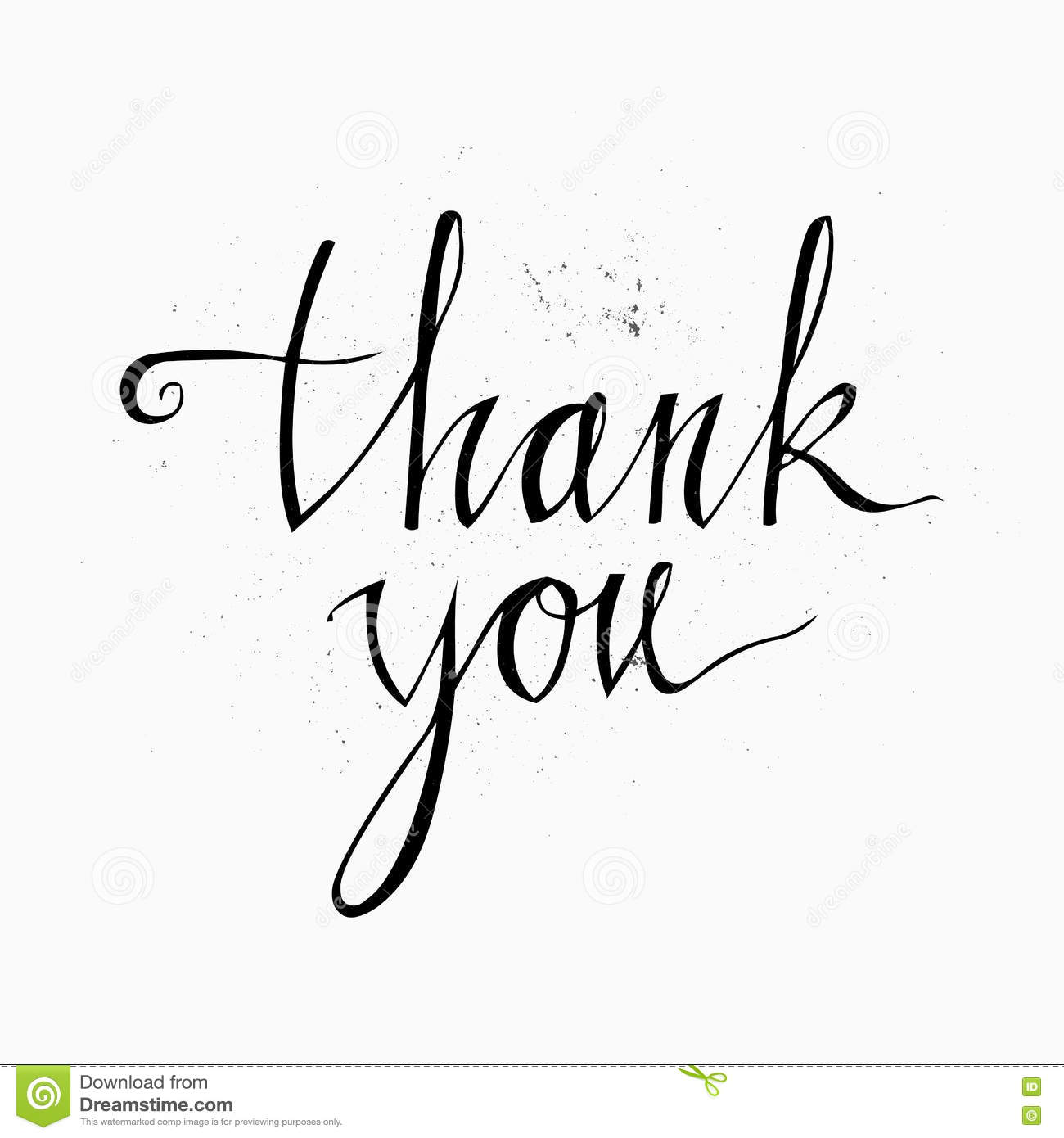 thank you handwritten inscription hand drawn lettering thank you