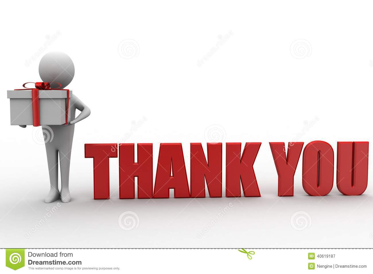 Royalty Free Stock Photography: Thank you illustration with 3d man ...