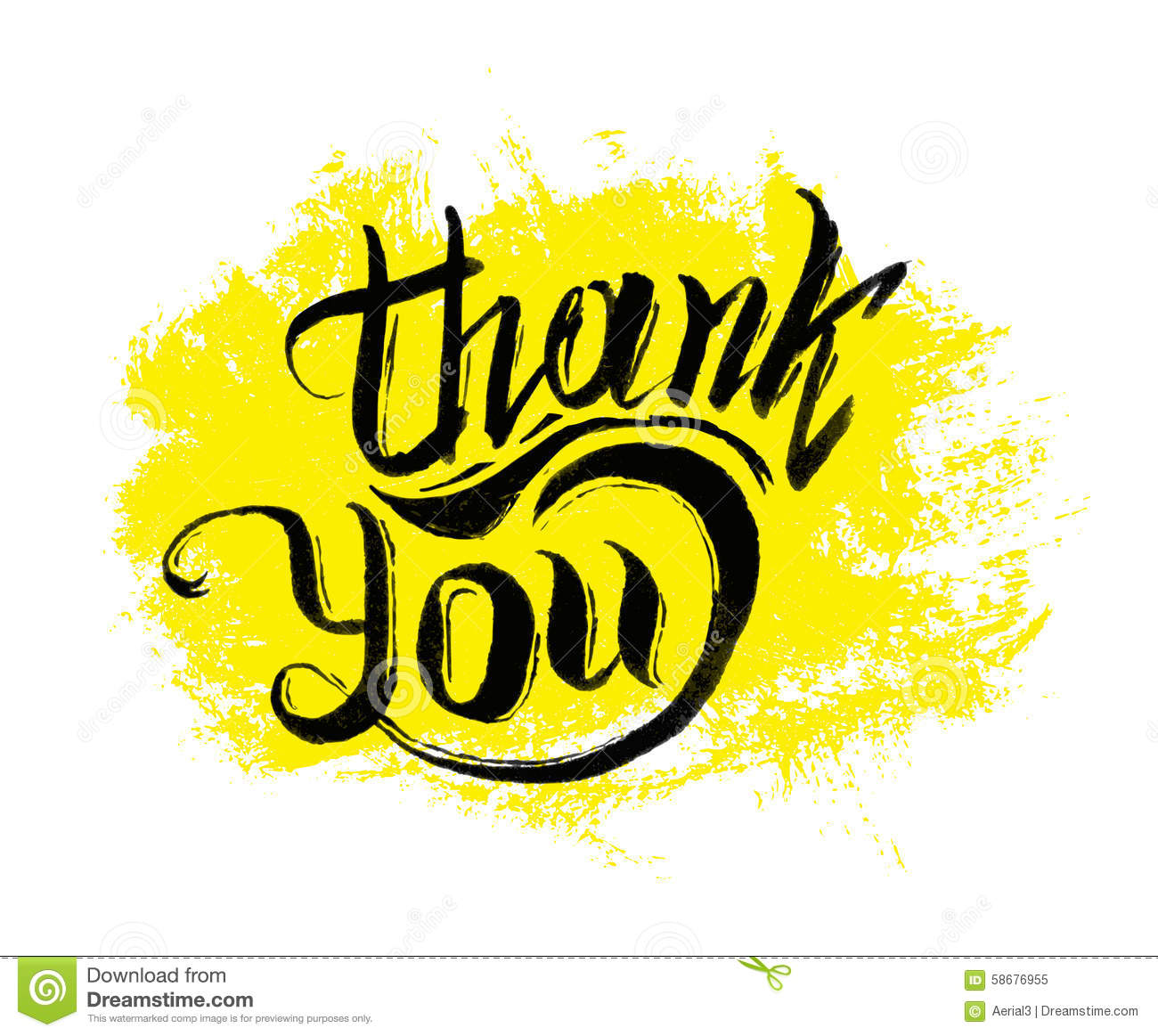 Thank you ink hand drawn lettering stock vector illustration of thank you ink hand drawn lettering kristyandbryce Image collections