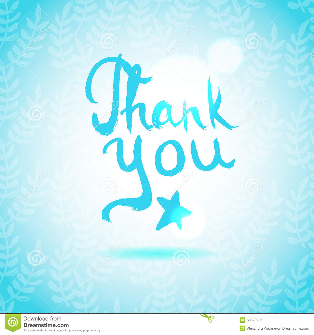 Download Thank You Lettering Calligraphy Stock Vector